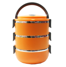 Eco Lunch Box Stainless Steel Rantang 3 Susun - Orange