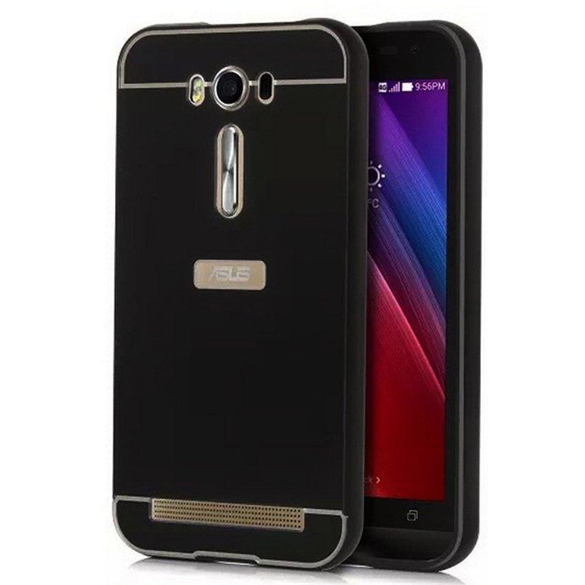 Elegant Case Metal Bumper Slide For Asus Zenfone Selfie (ZD551KL) - Hitam