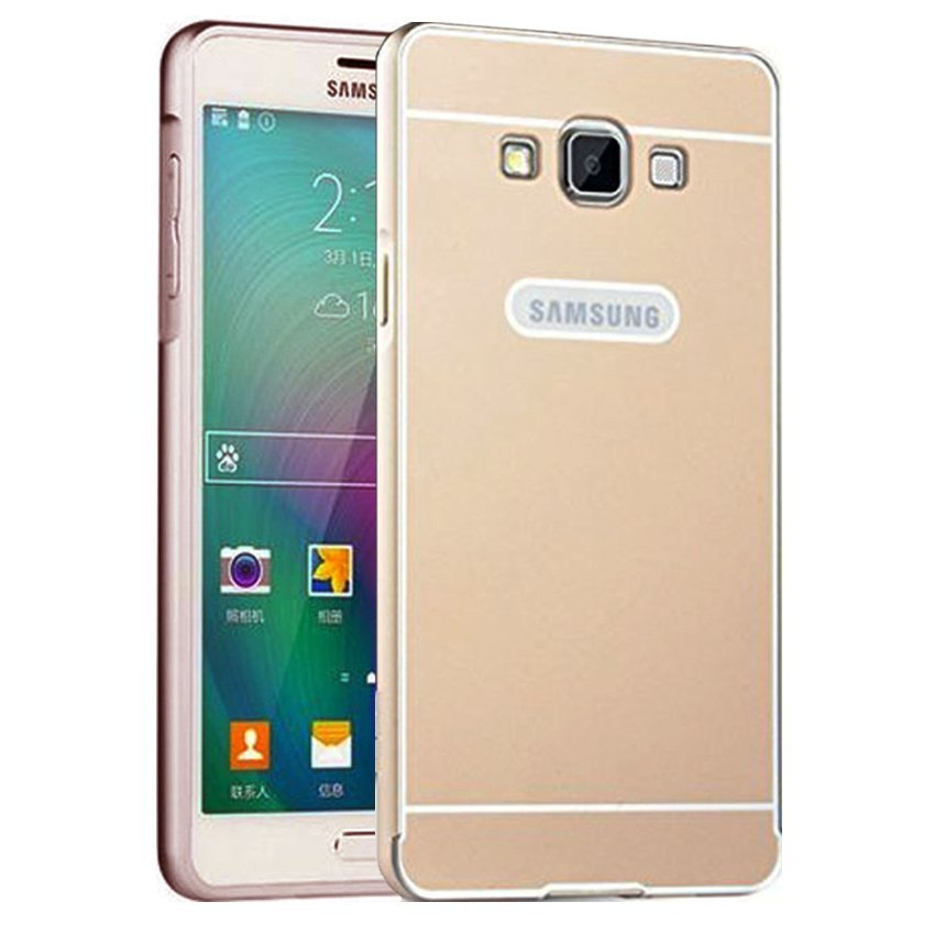 Elegant Case Metal Bumper Slide For Samsung Galaxy J2 - Emas