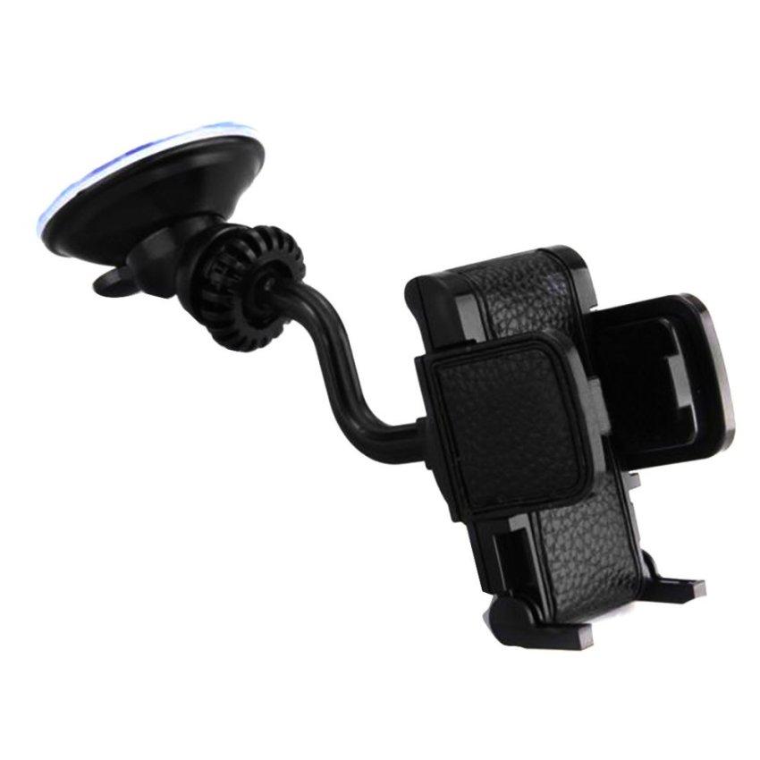 Elenxs 360°Rotating Car Mount Holder Stand Bracket for Cell Mobile Phone iPhone (Black) (Intl)