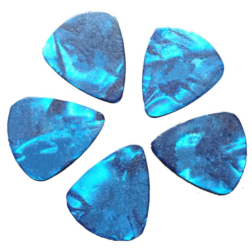 Elenxs Hot Sale 10Pcs Blue Thin 1Mm Assorte Acoustic Electric Guitar Picks Plectrums