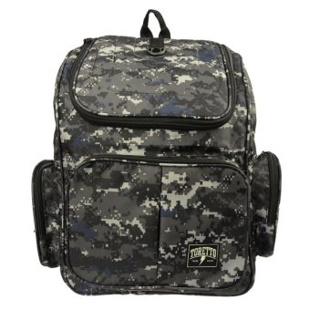 Jual Elfs Shop - Tas Ransel Canvas Toretto Army 6M-Hitam - Elfs Shop di