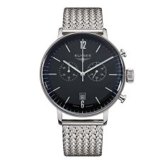 Elysee Male Watches Stentor Jam Tangan Pria - Hitam - Strap Milanaise Band - 13277M (All Size)