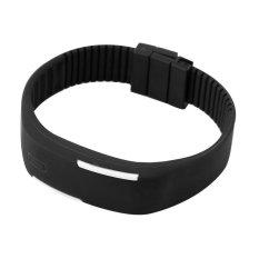 ERA Men Women New Fashion LED Luminous Touch Silicone Bracelet Digital Wrist Watch (Black) - Intl