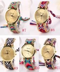 ETOP Ethnic Lady Women's Knit Quartz Bracelet Wristwatch (Red)