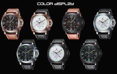 ETOP Fashionable Man Noctilucent Business Grail Quartz Watch Your Third Time Calendar (ORANETOP) (Intl)