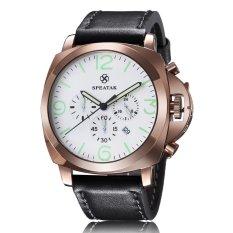 ETOP Fashionable Man Noctilucent Business Grail Quartz Watch Your Third Time Calendar (WHITE) (Intl)