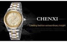 ETOP Watch Gold Men's Fashion Watches Between Luxury Atmosphere Steel Belt Business Men's Watch (BLACK) (Intl)
