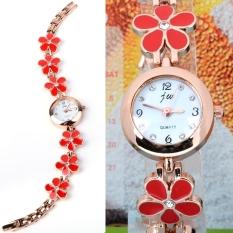ETOP Women Girl Sweet Daisies Flower Rose Gold Bracelet Wrist Watch Quartz Gift (Multicolor)