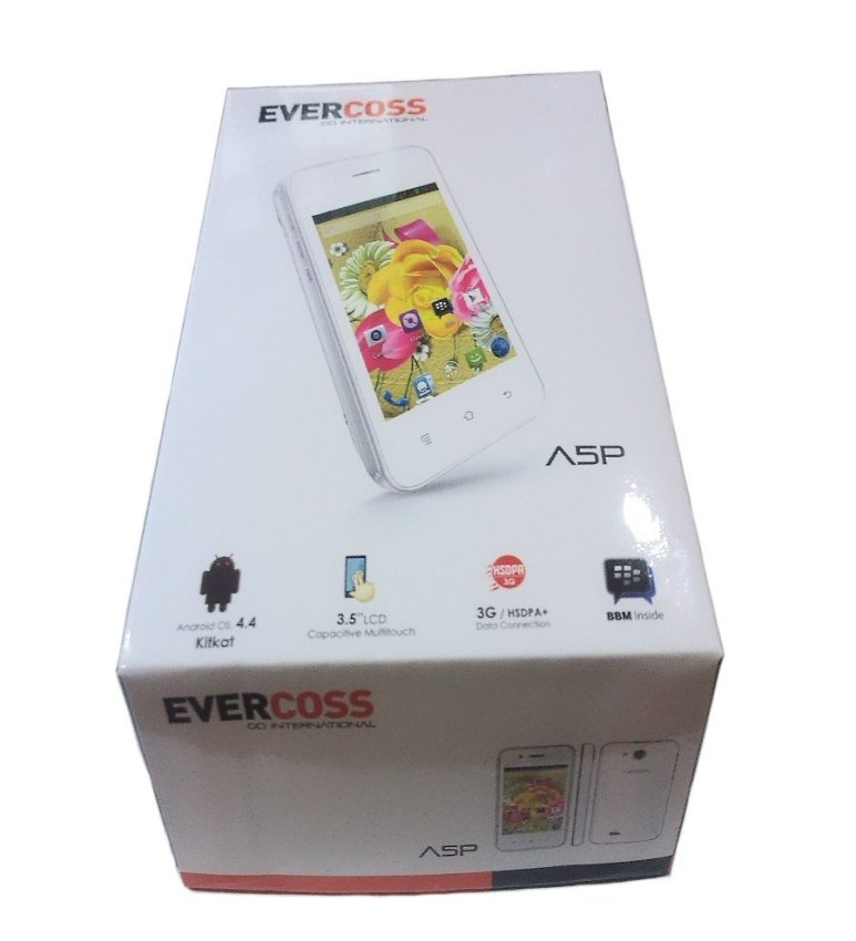 Evercoss A5P - Android Kitkat 4.4 - Hitam