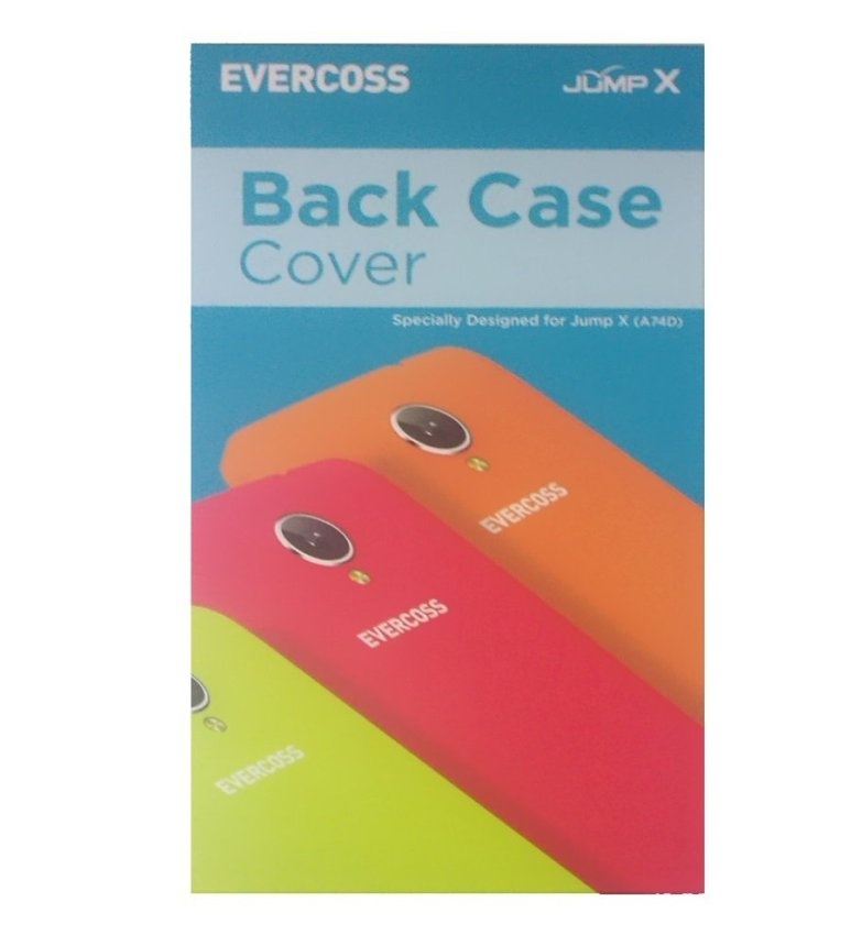 Evercoss A74D - OS KitKat 4.4 + Back Case Cover 3pcs - Hitam