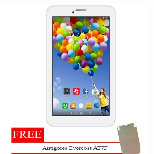 Evercoss AT7F Winner Tab S3 - 8GB - Putih + Gratis Antigores