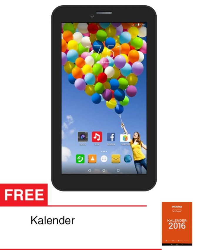 Evercoss Winner Tab S3 - 8GB - Hitam + Gratis Kalender