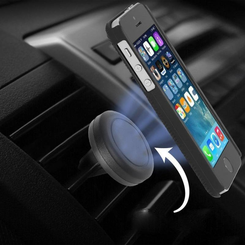 Excelvan Car Mount Holder for iPhone 6 Plus 6 5S 5 4S Samsung S6 Edge S6 HTC ONE M9 (Black)