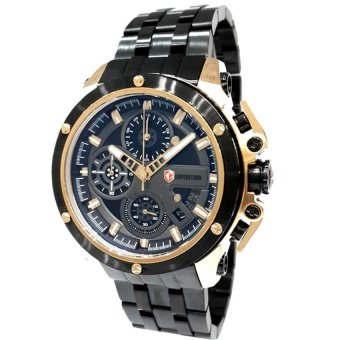 Expedition Jam Tangan Pria - Black Gold - Stainless Still - EX6630 (One Size)