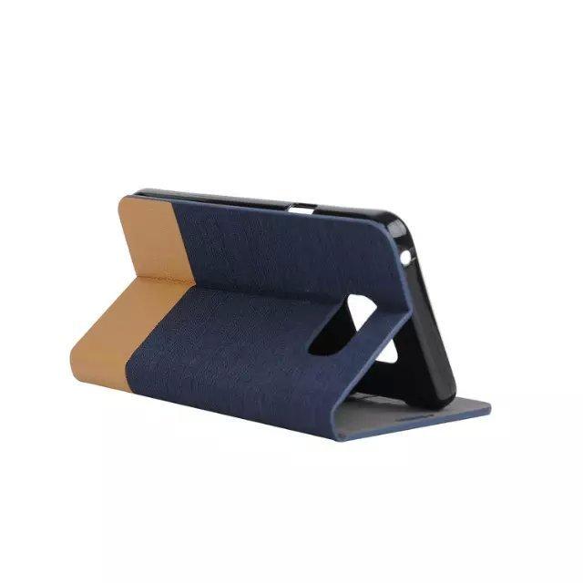 Fabic Grain Flip Case Built-in Soft Silicon Back Cover For Samsung Galaxy A5 (Black) (Intl)