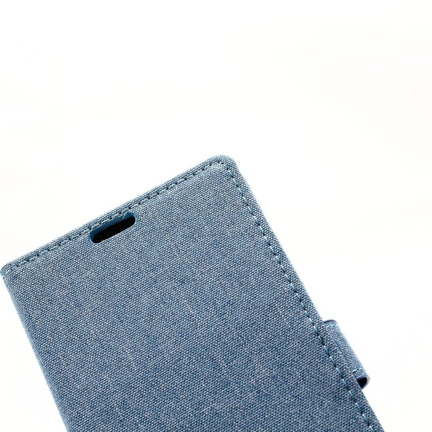 Fabic Grain Flip Cover Case Built-in Card Slot For Huawei Ascend GX1 (Blue) (Intl)