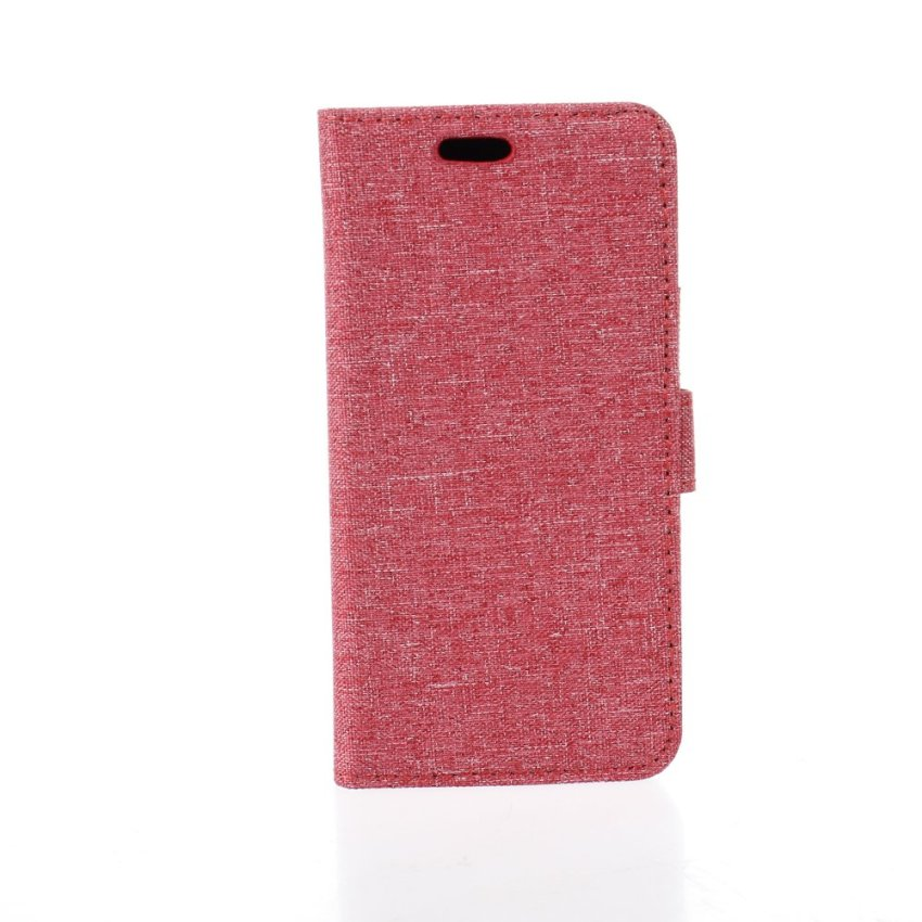 Fabic Grain Flip Cover Case Built-in Card Slot For iPhone 6 (Red) (Intl)