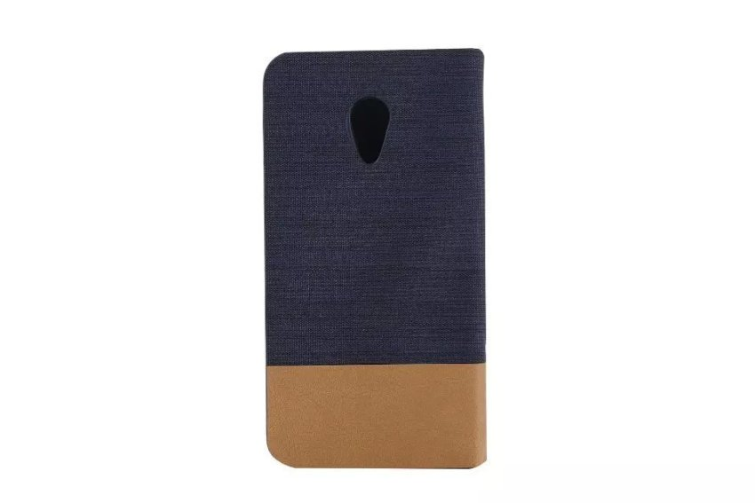 Fabric Grain and Soft Silicone Flip Cover for Moto G2 (Black) (Intl)