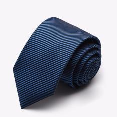 Famous Brand Ties For Men Fashion Designers Men's Ties Men Tie Fashion 7cm Stripe Casual Necktie Casual (Blue)