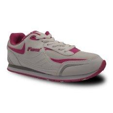 Fans Veloz P Sepatu Olahraga Lari Wanita - Putih-Pink