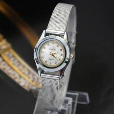 Fashion Casual Luxury Women Stainless Steel Band Quartz Wrist Watch Black