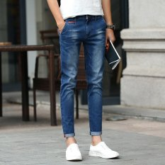 Fashion Men Summer Stretchy Slim Jean Pants 911 (Intl)