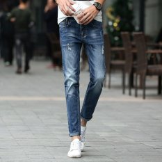 Fashion Men Summer Stretchy Slim Jean Pants 913 (Intl)