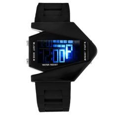 Fashion Mens Boys Watches LED Light Digital Sports Quartz Silicone Wrist Watches (INTL)
