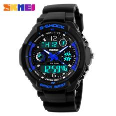 Fashion Skmei Brand Sports Watch Men's Digital Shock Resistant Quartz Alarm Wristwatches Outdoor Military LED Casual Watches Black / Blue