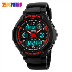 Fashion Skmei Brand Sports Watch Men's Digital Shock Resistant Quartz Alarm Wristwatches Outdoor Military LED Casual Watches Black / Red