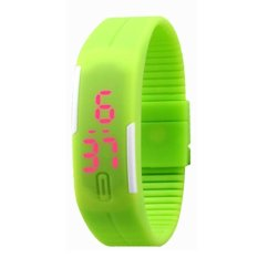 Fashion Sport Led Watch Ladies Candy Color Silicone Rubber Touch Screen Digital Clock Women Bracelet Wristwatch (Green) (Intl)