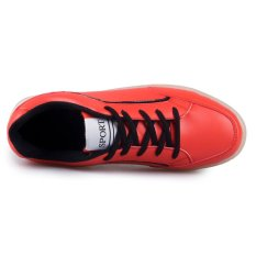 Fashion Women's Men's Unisex's PU Leather Red Led Light Solid Casual Shoes (7colors In 1shoes) D54 CA- INTL