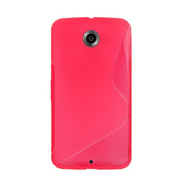 Flexible TPU Gel Rubber Back Cover Case For Motorola Google Nexus 6 New Hot Pink
