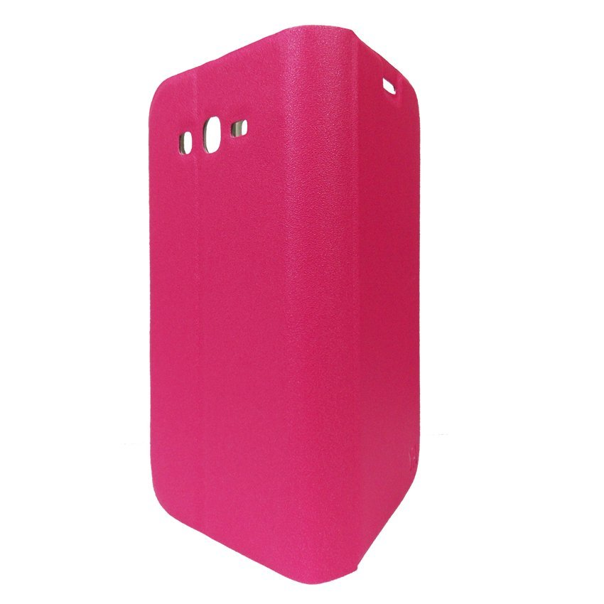 Flip Cover YA Series Lenovo A859 - Merah Muda