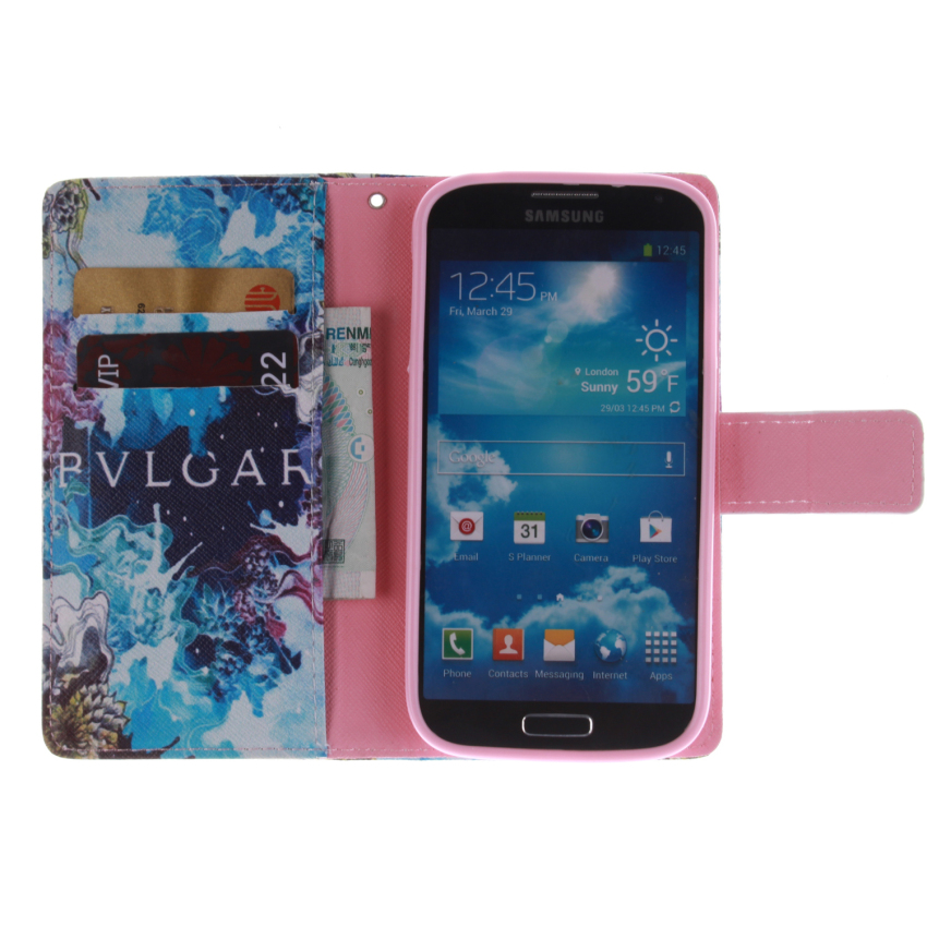 Flip Leather Case Built in Card Slot for Samsung Galaxy S4 (Multicolor) (Intl)