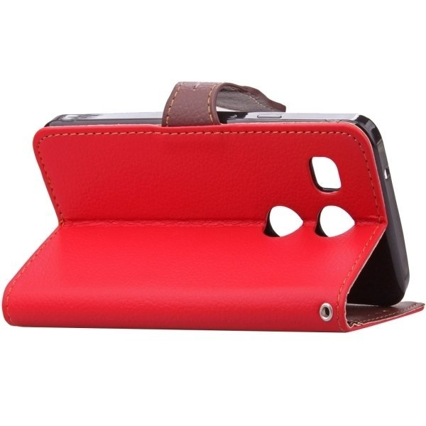 Flip Leather Case with Card Slots & Wallet & Holder & Lanyard for Google Nexus 5X (Red) (Intl)