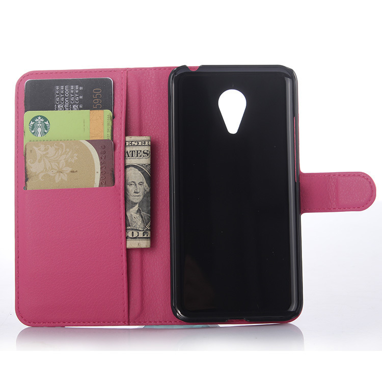 Flip Leather Cover for Meizu MX5 (Rose Red) (Intl)