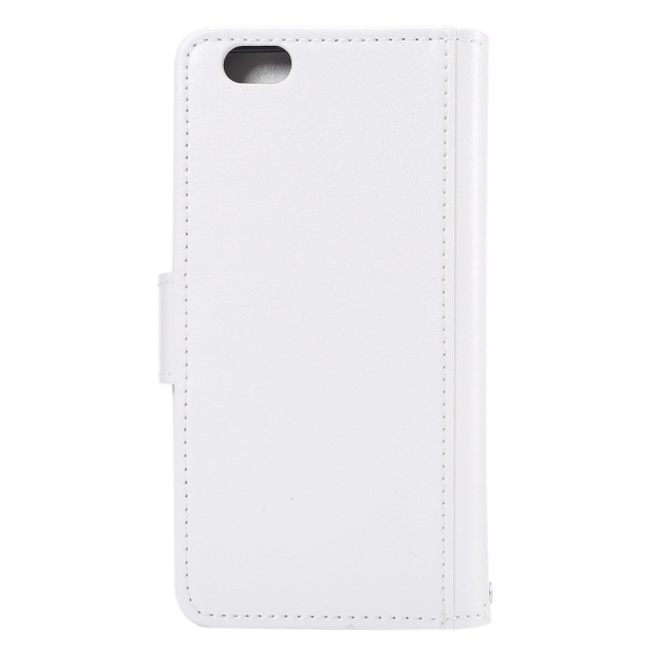 Flip Leather Wallet Cover with 7 Card Slots & Lanyard for iPhone 6 & 6s(White) (Intl)
