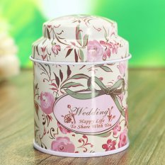 Flower Metal Sugar Coffee Tea Tin Jar Container Candy Sealed Cans Box 03