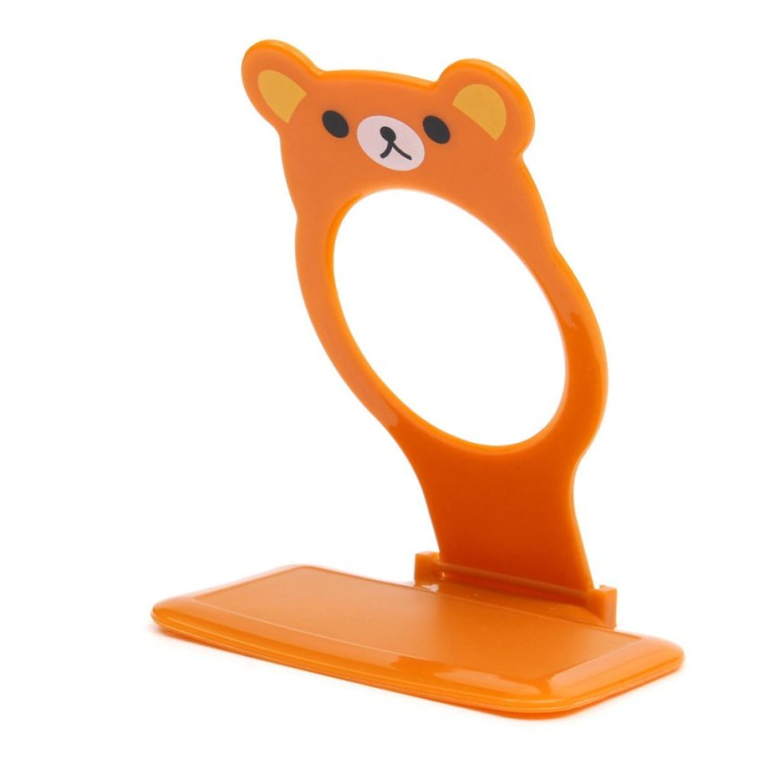 Foldable Cute Bear Wall Charger Mounts Holders Shelf for Iphone Sumsung HTC LG (Brown) (Intl)
