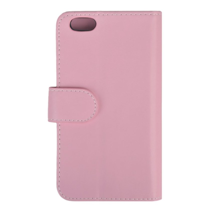 Folio Flip Wallet Leather PU Cover with Photo Frame Phone Cover for iPhone 6 (Pink)