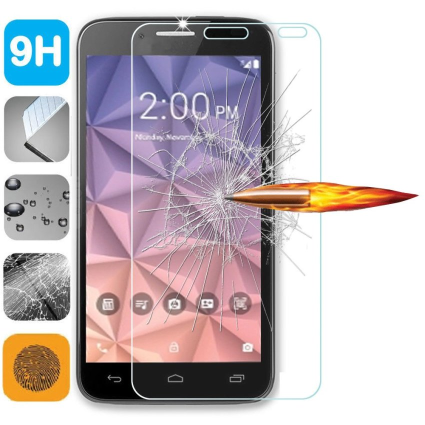 For Alcatel One Touch Fierce XL Ultra Thin Clear Full Coverage Tempered Screen Film Protector Guard - White (Intl)