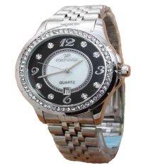 Fortuner Jam Tangan Wanita - Silver - Strap Stainless Steel - FR K8107 SB