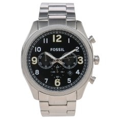 Fossil Foreman Chronograph -  Jam Tangan Pria  - Silver - Strap Stainless Steel - FS4862