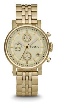 Fossil Original Boyfriend Chronograph Gold-Tone Stainless Steel Watch, Es 2197
