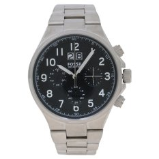 Fossil Qualifier Chronograph Jam Tangan Pria - Silver - Strap Stainless Steel - CH2902