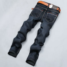 Four Seasons Seluar Jeans Men's Fashion Slim Straight Jeans Straight Casual Pant Denim Trousers