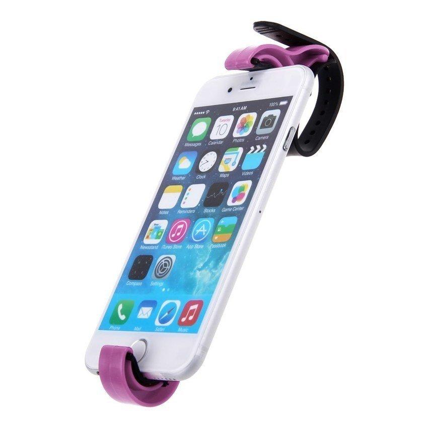 FSH Steering Wheel Cradle Holder Smart Clip Car Mount Bracket F Mobile Phone GPS PDA (Pink) (Intl)