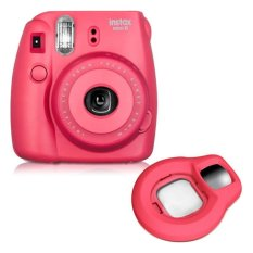 Fujifilm Fuji Instax Mini 8 Instant Photo Film Camera (Raspberry) + Close-up Lens (Intl)